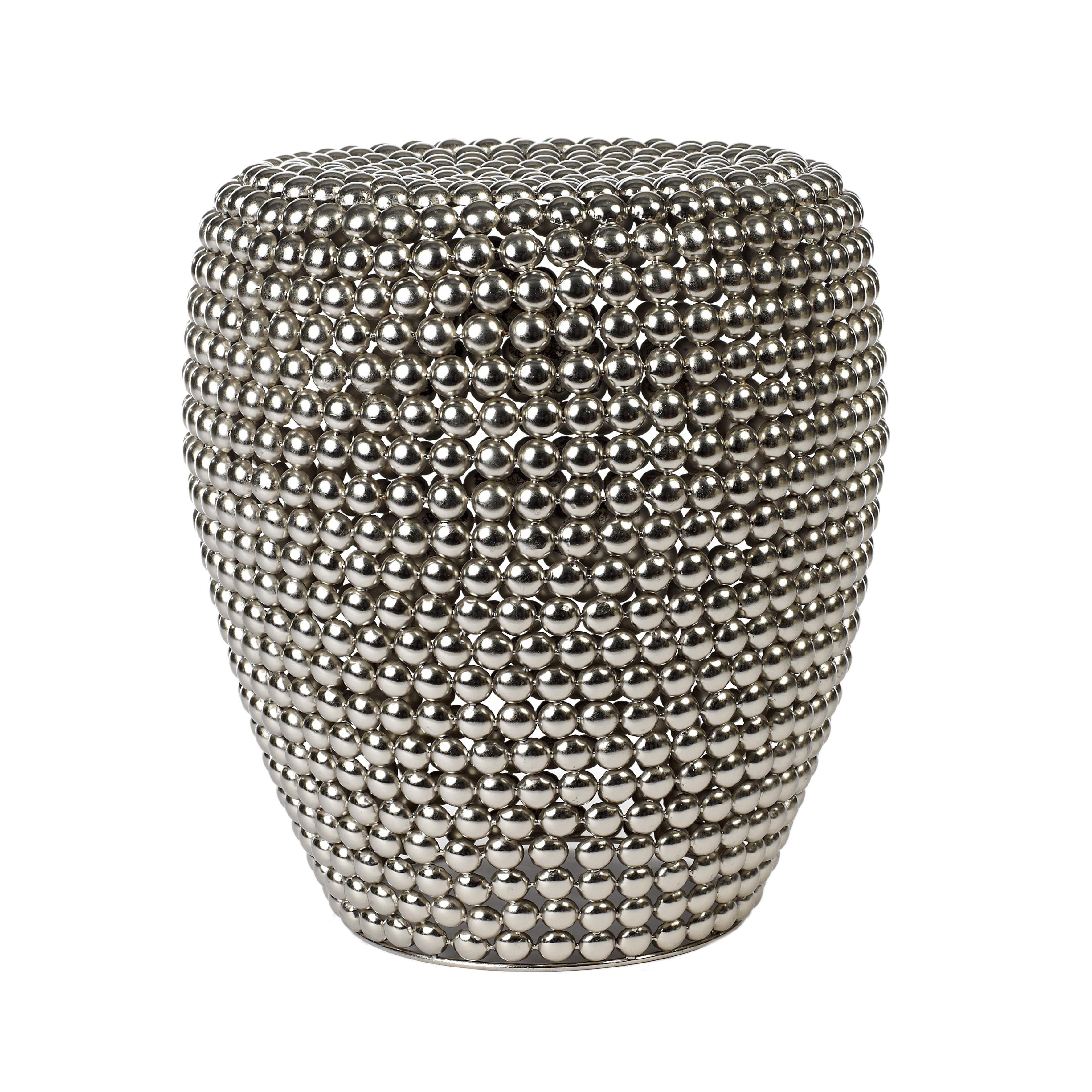 dot stool silver van pols potten laatste 2 gratis verzenden zusenzo living. Black Bedroom Furniture Sets. Home Design Ideas
