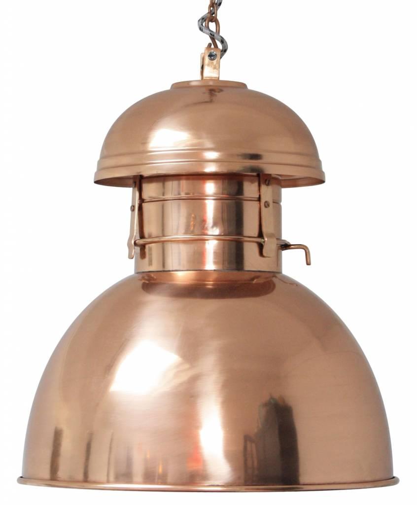 Mooie industriele lamp koper warehouse   zusenzo living